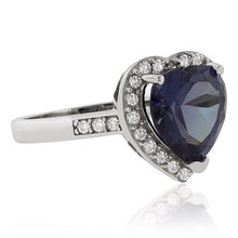Heart Cut Color Change Alexandrite .925 Silver Ring