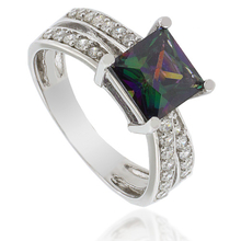 Fashion Mystic Topaz .925 Silver Ring