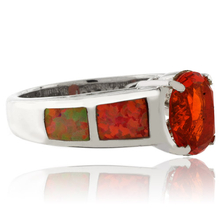 Natural Mexican Fire Opal .925 Silver Ring