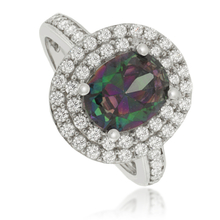 High Quality Mystic Topaz .925 Sterling Silver Ring