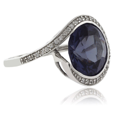 Round Cut Color Change Alexandrite .925 Silver Ring