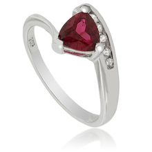 Solitaire Ruby .925 Sterling Silver Ring