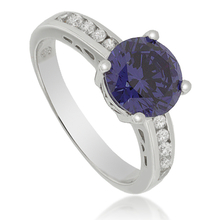 Round-Cut Tanzanite Ring in .925 Silver