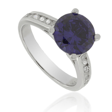Sterling Silver Ring with Round-Cut Tanzanite