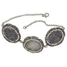 Sterling Silver .925 Druzy Quartz Bracelet