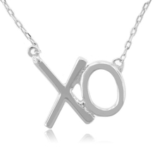 Sterling Silver .925 XO Necklace