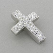 Swarovski Crystal .925 Silver Cross Pendant