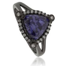 Tanzanite .925 Oxidized Silver Ring