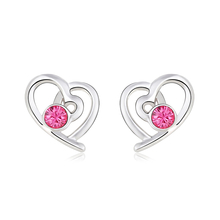 Beautiful Heart-Shaped Swarovski Earrings