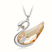 Beautiful Ambar Swan Swarovski Crystal Necklace