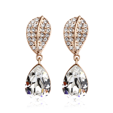 18k Rose Gold Plated White Swarovski crystal Earrings