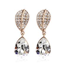 18k Rose Gold Plated White Swarovski crystal Earrings