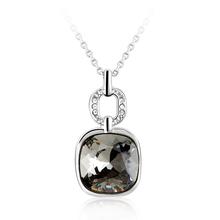 Elegante Collar de Swarovski con Rodio Color Diamante Negro