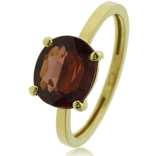 Genuine Garnet Ring in 14K Gold
