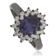 Princess Kate Tanzanite Black Silver Ring.