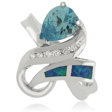 Australian Opal & Blue Topaz Ring