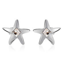 Swarovski Earring Star Shaped White Color