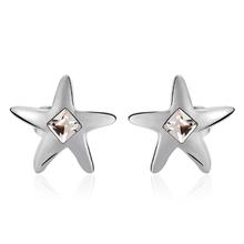 Swarovski Earring Star Shaped White Color