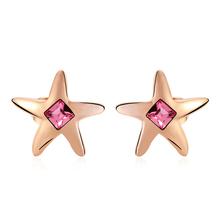 Swarovski Earring Star Shaped Golden Color