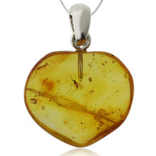 Wonderful Amber and Silver Pendant.
