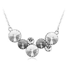 Collar de Cristales Swarovski Color Blanco