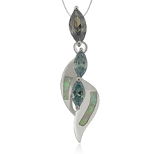 Marquise Cut Alexandrite And Opal Pendant