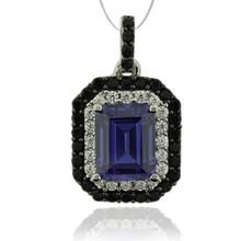 Silver Pendant With Tanzanite in Emerald Cut