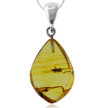 Genuine Amber Mosquito Sterling Silver Pendant