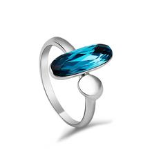 Anillo de Semilla Cristal Swarovski Azul
