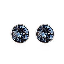 Tiernos Aretes de Cristal Swarovski Color Azul