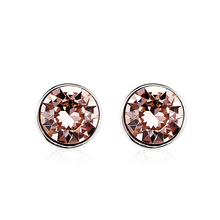 Vintage Rose Swarovski Crystal Stud Earrings