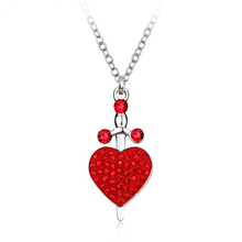 Beautiful necklace with Swarovski Heart Sword