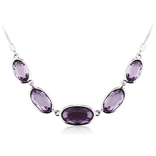 Amazing Tanzanite Color Swarovski Crystal Necklace