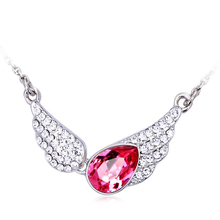 Wings Swarovski Necklace With Rhodium Pink