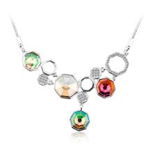Hermoso Collar de Colores con Cristal Swarovski