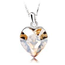 Corazón de Cristal Swarovski en Collar Amarillo