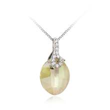 Sterling Silver Drop Shaped Swarovski Crystal Pendant