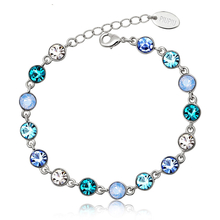 Hermosa Pulsera de Swarovski con Cristales Azul