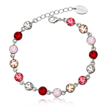 Beautiful Red, Yellow and Opal Swarovski Crystal Bracelet