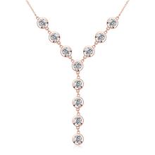 Collar de Cristales Swarovski con Baño de Oro Rosa de 18K