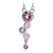 Beautiful Necklace with Swarovski Crystal in Pink Tones