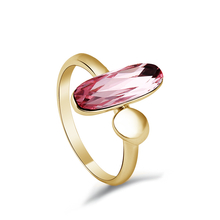 Swarovski Crystal Ring with 18K Yellow Gold Plating