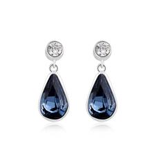Night Blue Swarovski Drop Earrings