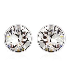 Cute White Swarovski Solitaire Earrings