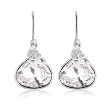White Swarovski Crystals Sterling Silver Earrings