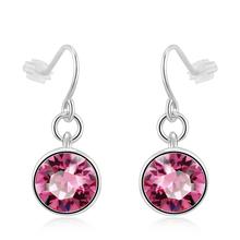Aretes Elegantes de Swarovski Color Rosa