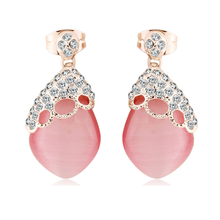 Beautiful Opal Earrings with 18K Rose Gold