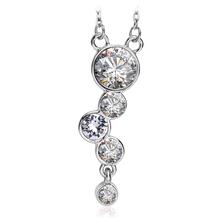 Beautiful Necklace with White Swarovski Crystal