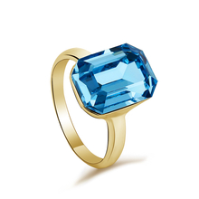 Blue Swarovski Crystal Ring