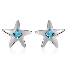 Blue Swarovski Earring Star Shaped